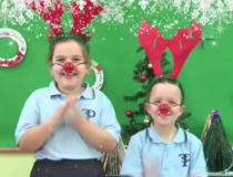 The kids at RIDBC teach us how to say Merry Xmas